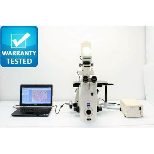 Zeiss Axiovert 200M Inverted Fluorescence Motorized PH Microscope Unit 5