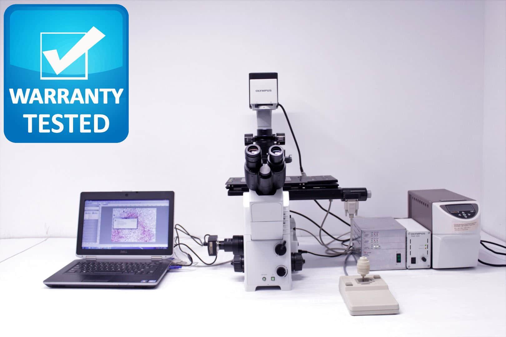 Olympus IX71 Inverted Fluorescence Motorized Microscope