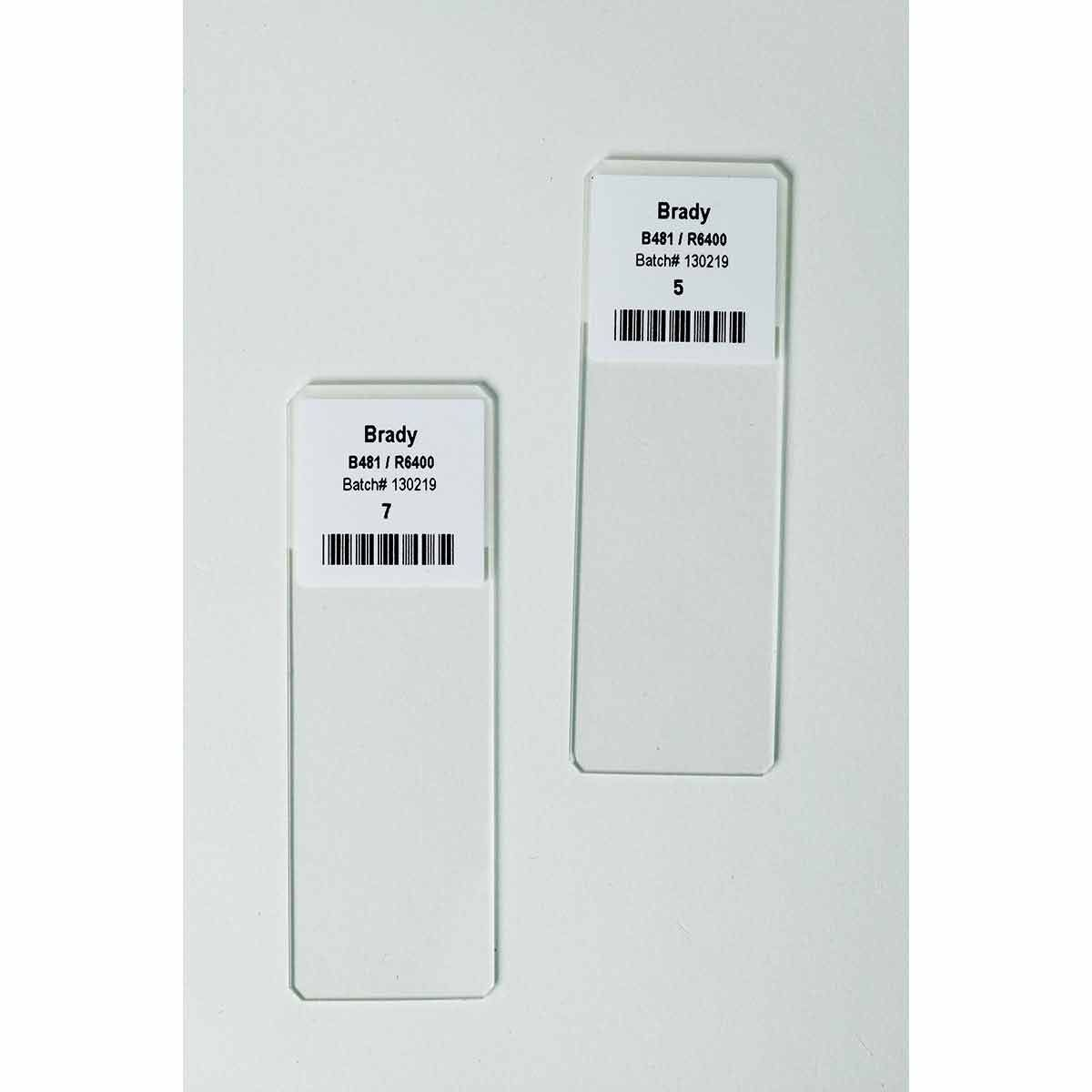 "3"" Core Polyester Chemical Resistant Slide Labels"