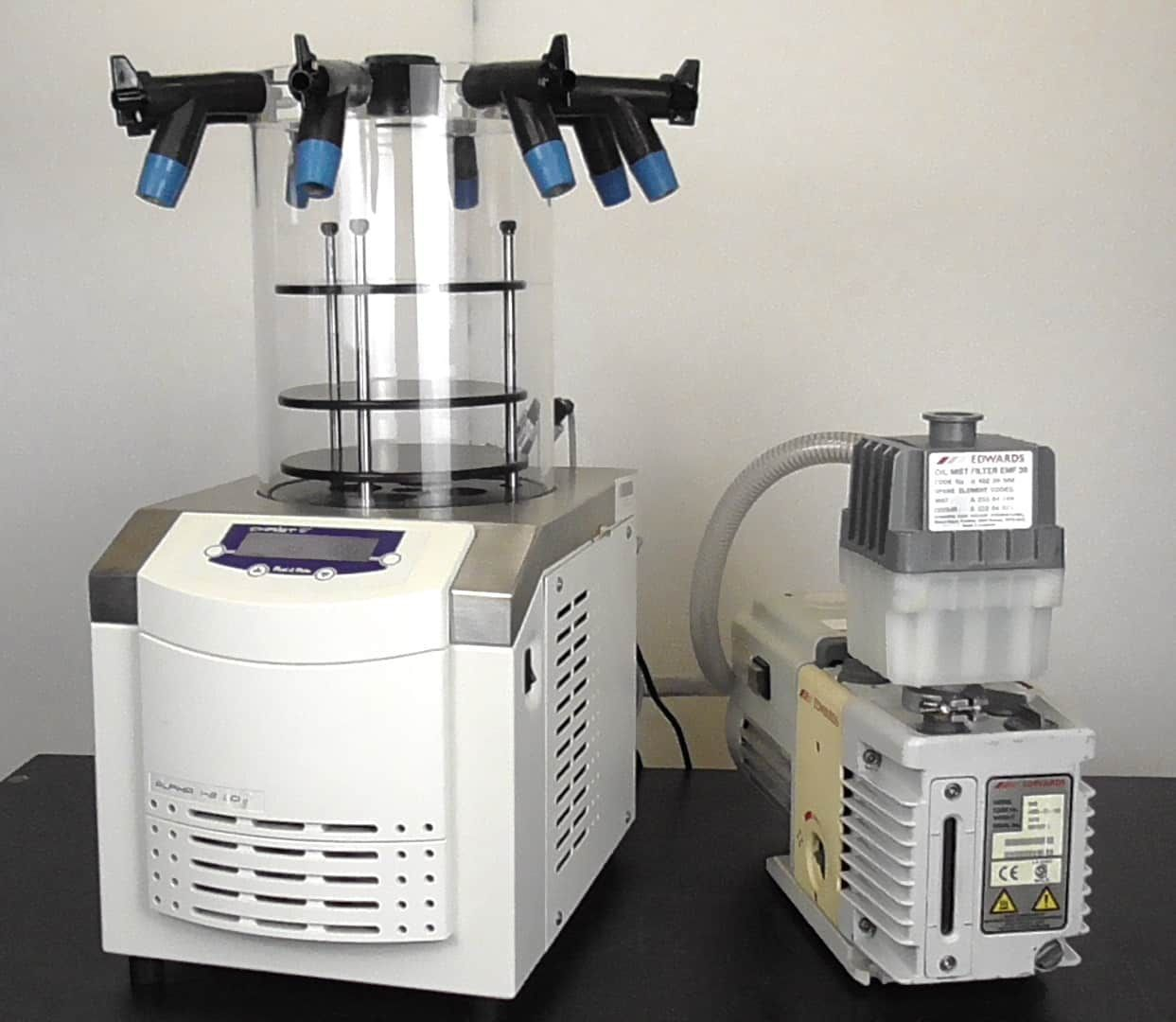 Christ Alpha 1-2LD Plus Lyophilizer (Part 101521) with Optional Vacuum Pump