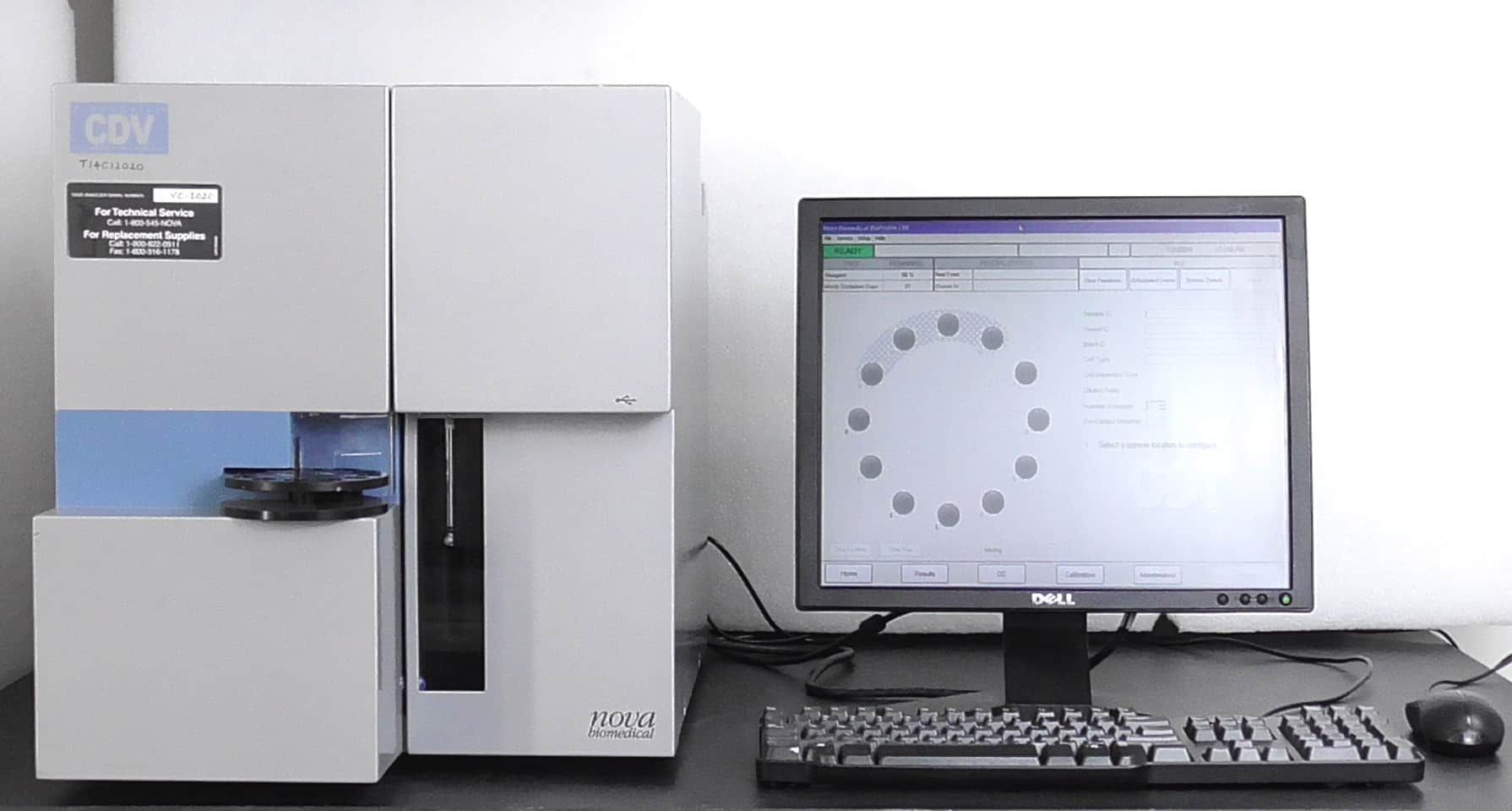 Nova Biomedical Bioprofile CDV Cell Density and Viability Analyzer