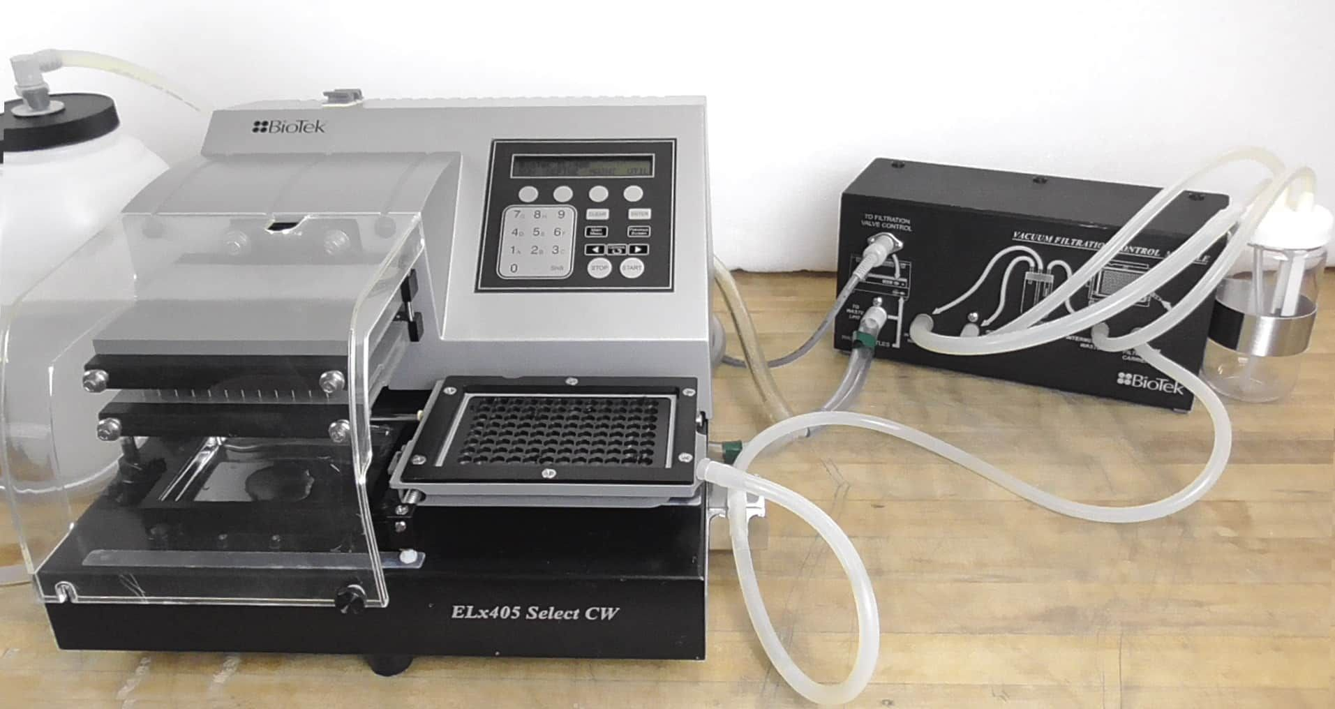 BioTek ELX405 UCWSMF Select CW Microplate Washer with Optional Microplate Vacuum System