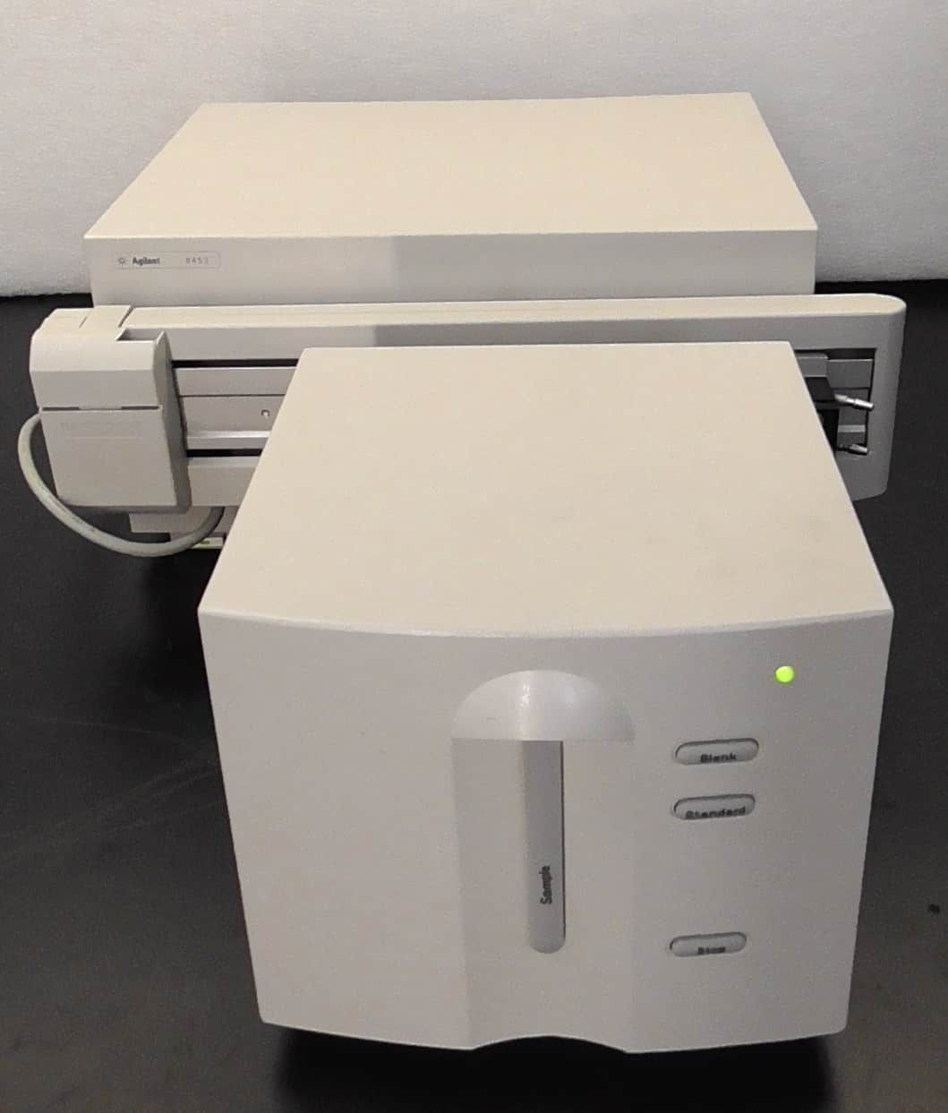 Agilent 8453 UV Vis Spectrophotometer with 8 Position Multicell Transport, Windows 7 PC, Keybaord and Mouse
