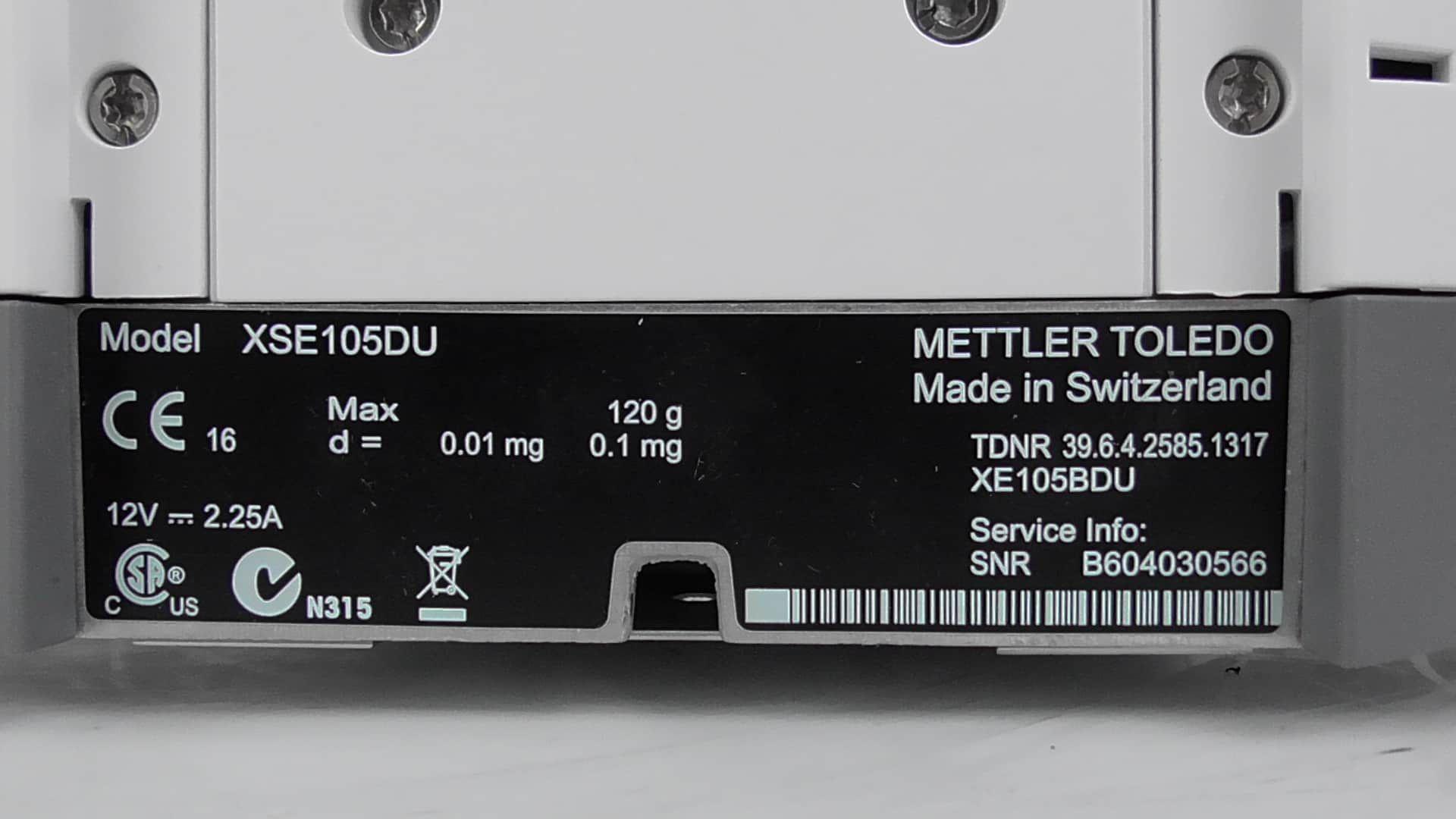 Mettler Toledo XSE105DU Balance