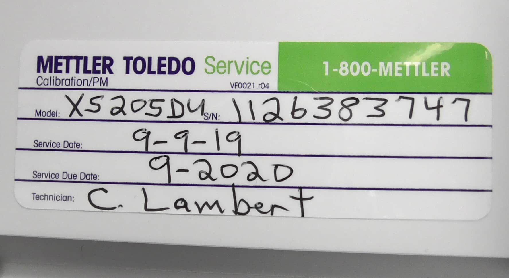 Fully Refurbished Mettler Toledo XS205DU Balance