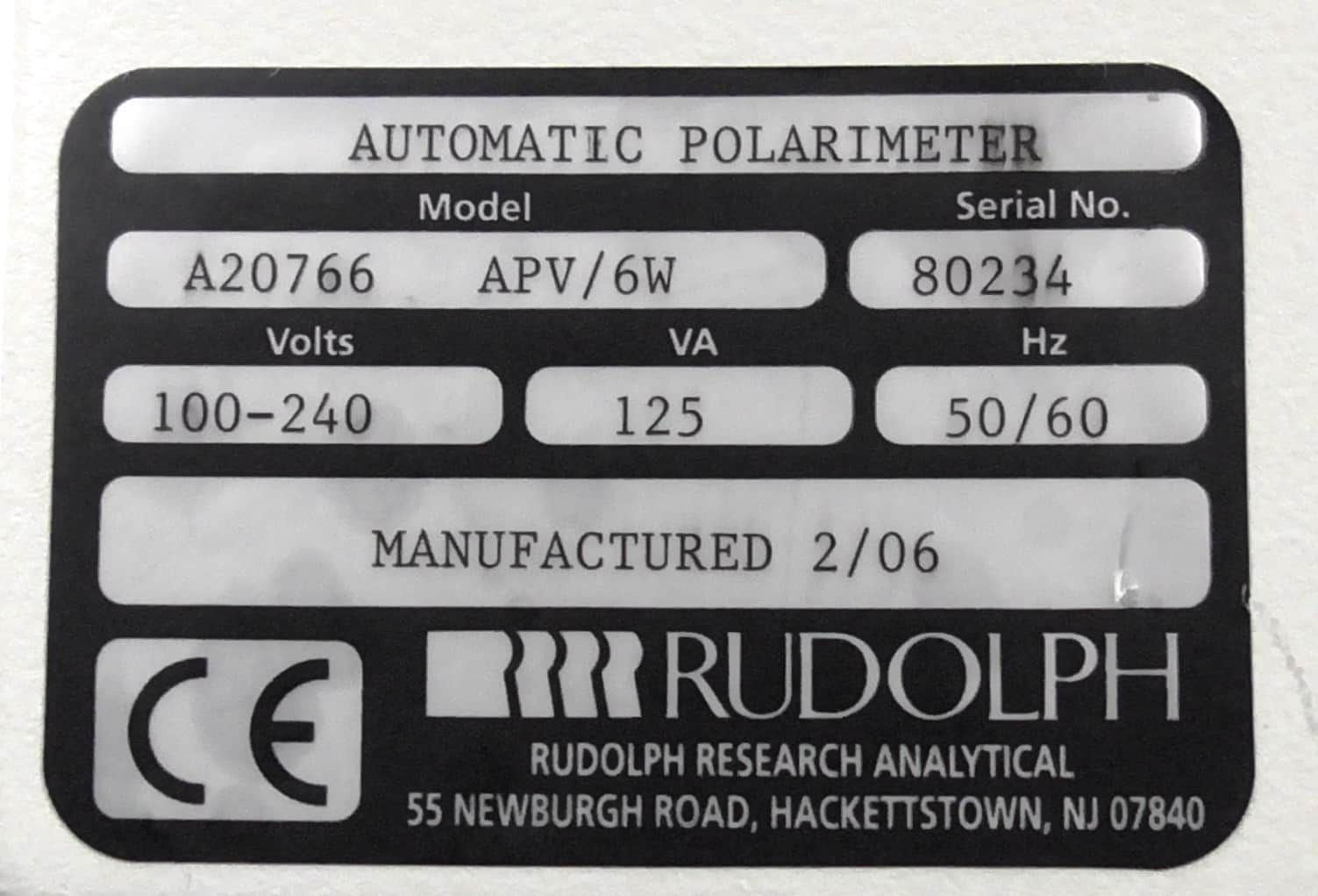 Rudolph Research Analytical Autopol V (Part # A20766)