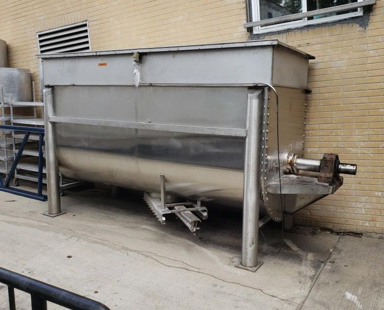 100 Cuft Stainless Steel Double Ribbon Blender
