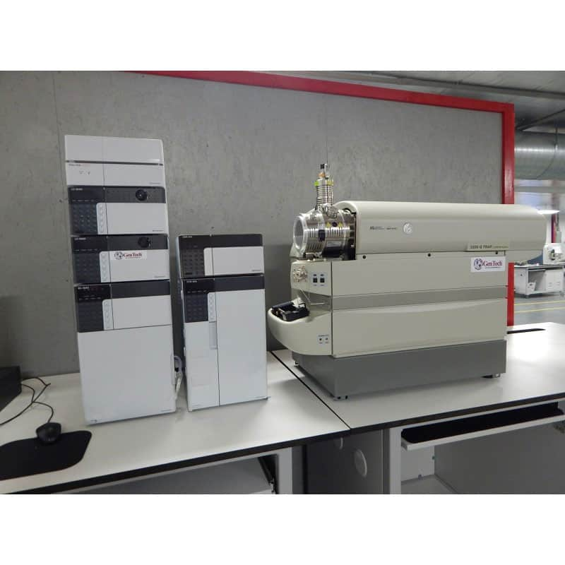 AB Sciex 3200 LC/MS/MS with Shimadzu HPLC System