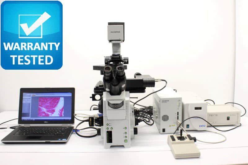 Olympus IX81 Inverted Fluorescence Motorized DIC Phase Contrast Microscope Unit5 - AV
