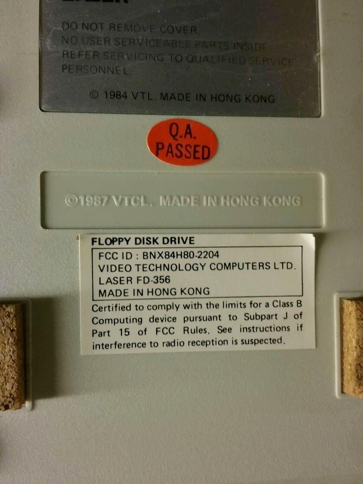 V TECH LASER FD-356 Floppy 3.5 Drive Accessory Apple II? FTCL