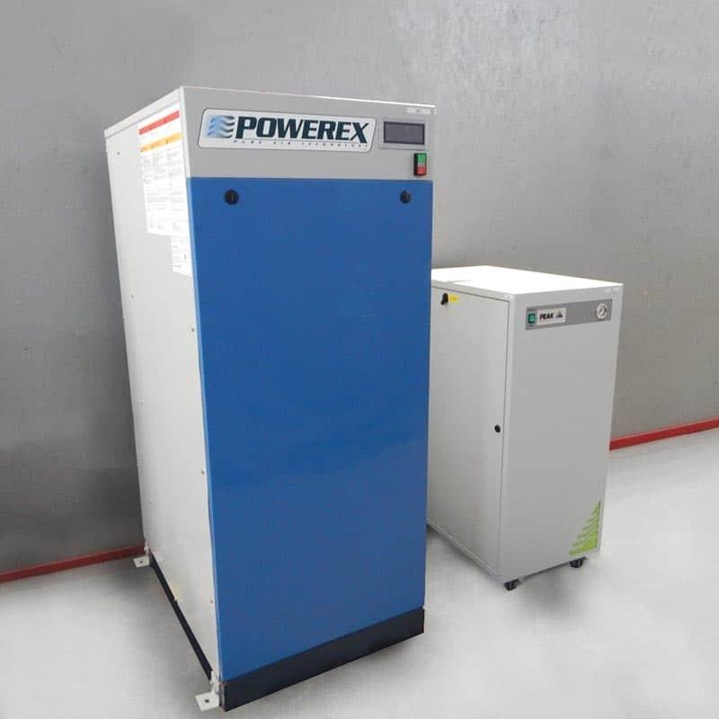 Powerex Air Compressor with Peak Scientific Infinity 5050 Nitrogen Generator