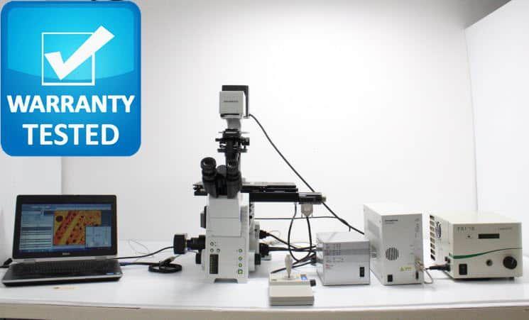 Olympus IX81 Fluorescence Motorized DIC Polarization Phase Microscope unit 5
