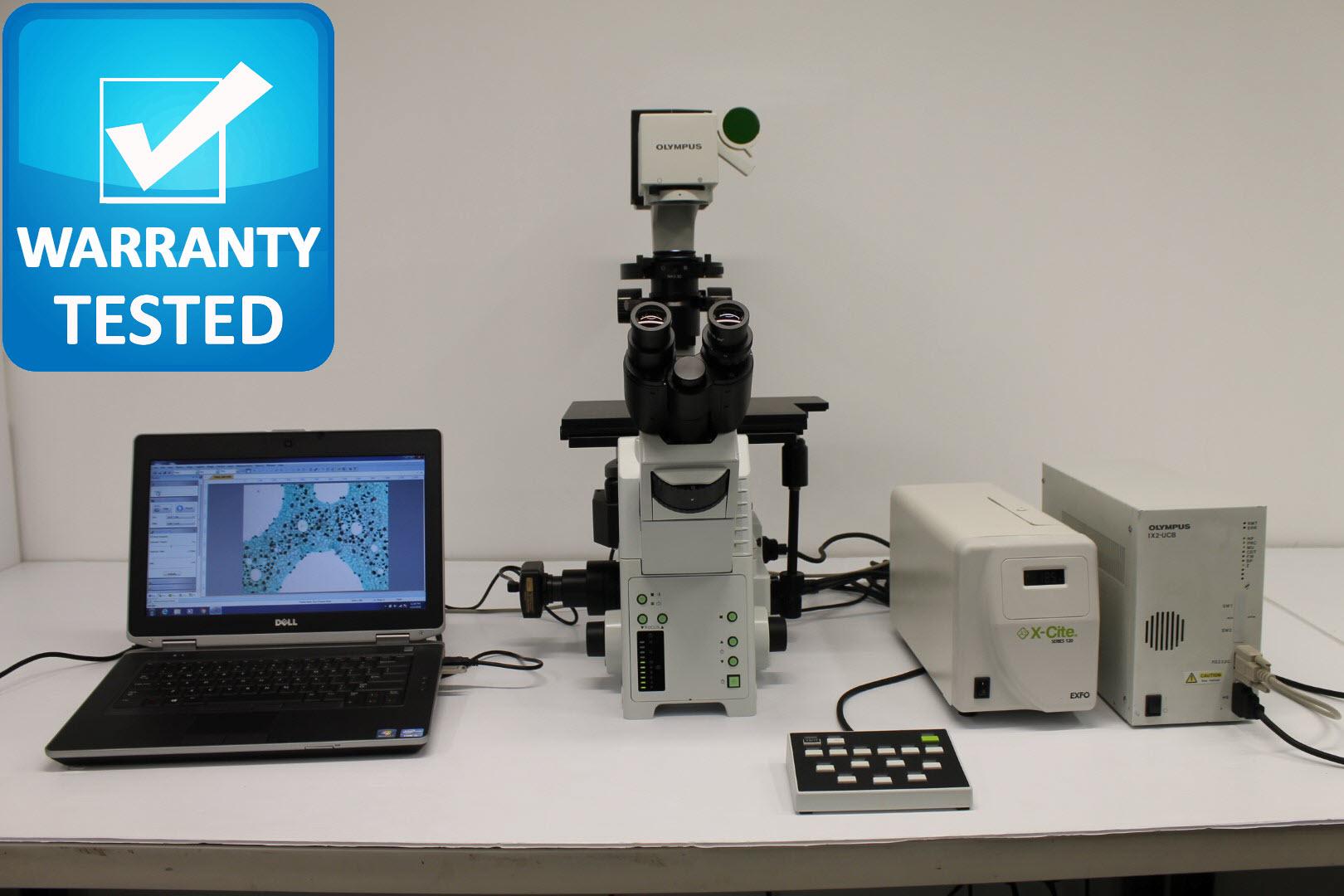 Olympus IX81 Microscope with Fluorescence