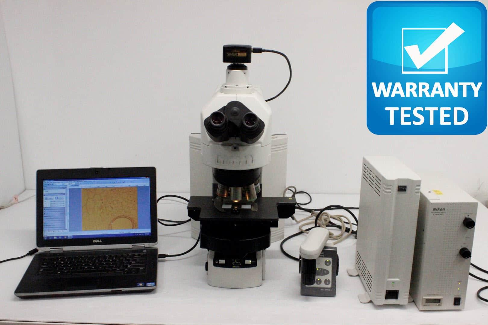 Nikon 90i Motorized Phase Contrast Fluorescence Microscope