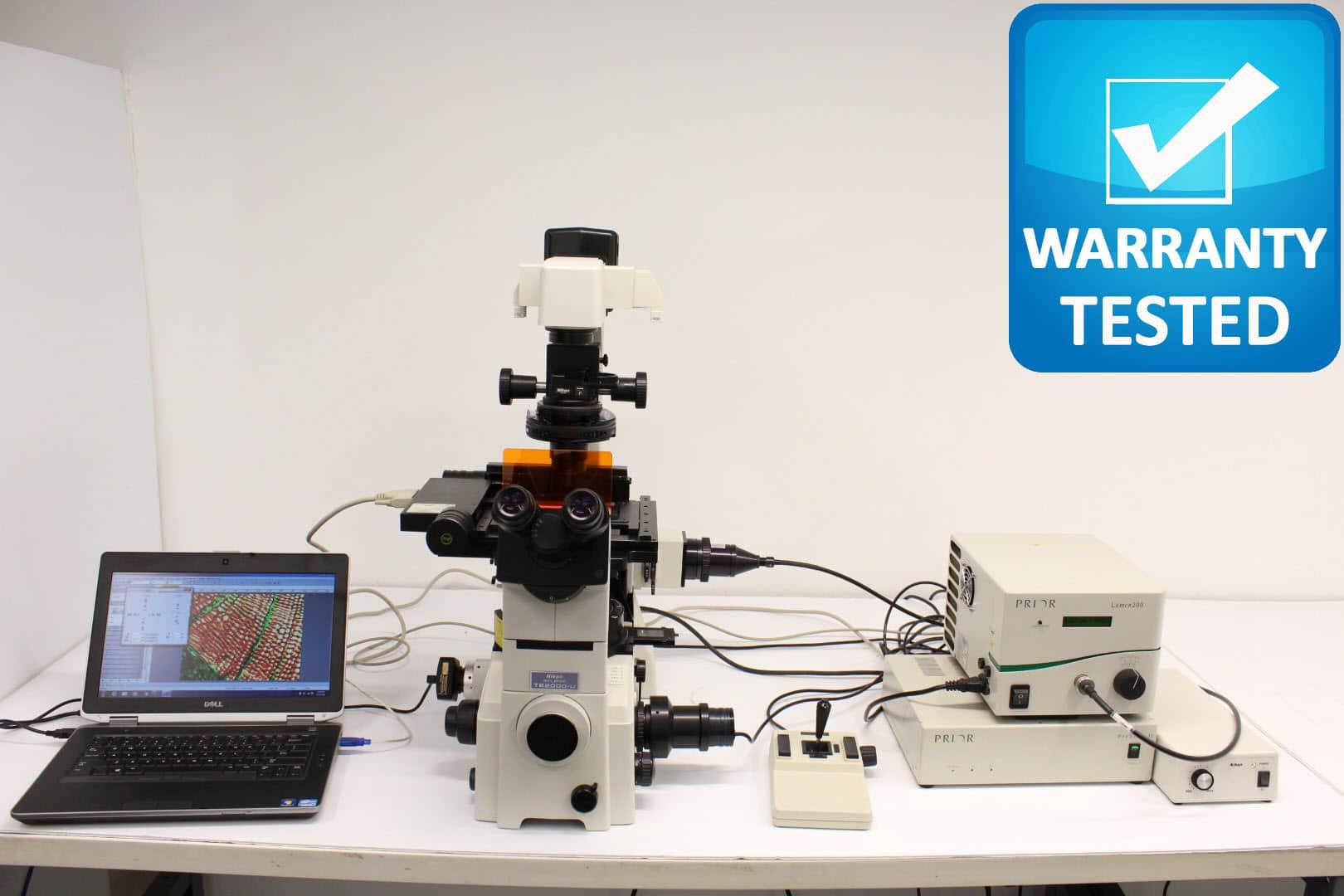 Nikon TE2000-U Motorized Microscope Fluorescence Polarization DIC Pred. Ti, TI2