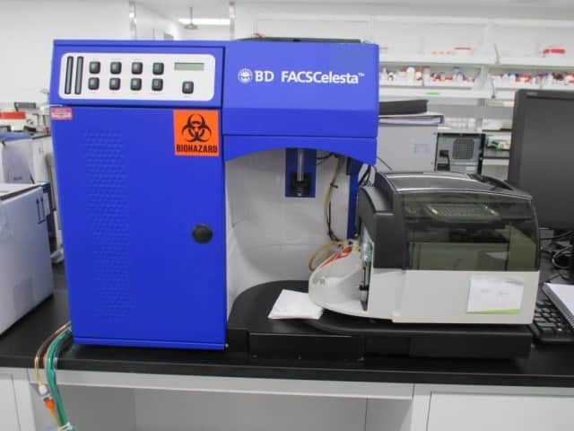 BD FACSCelesta w/HTS (3 Laser, 8 Color)