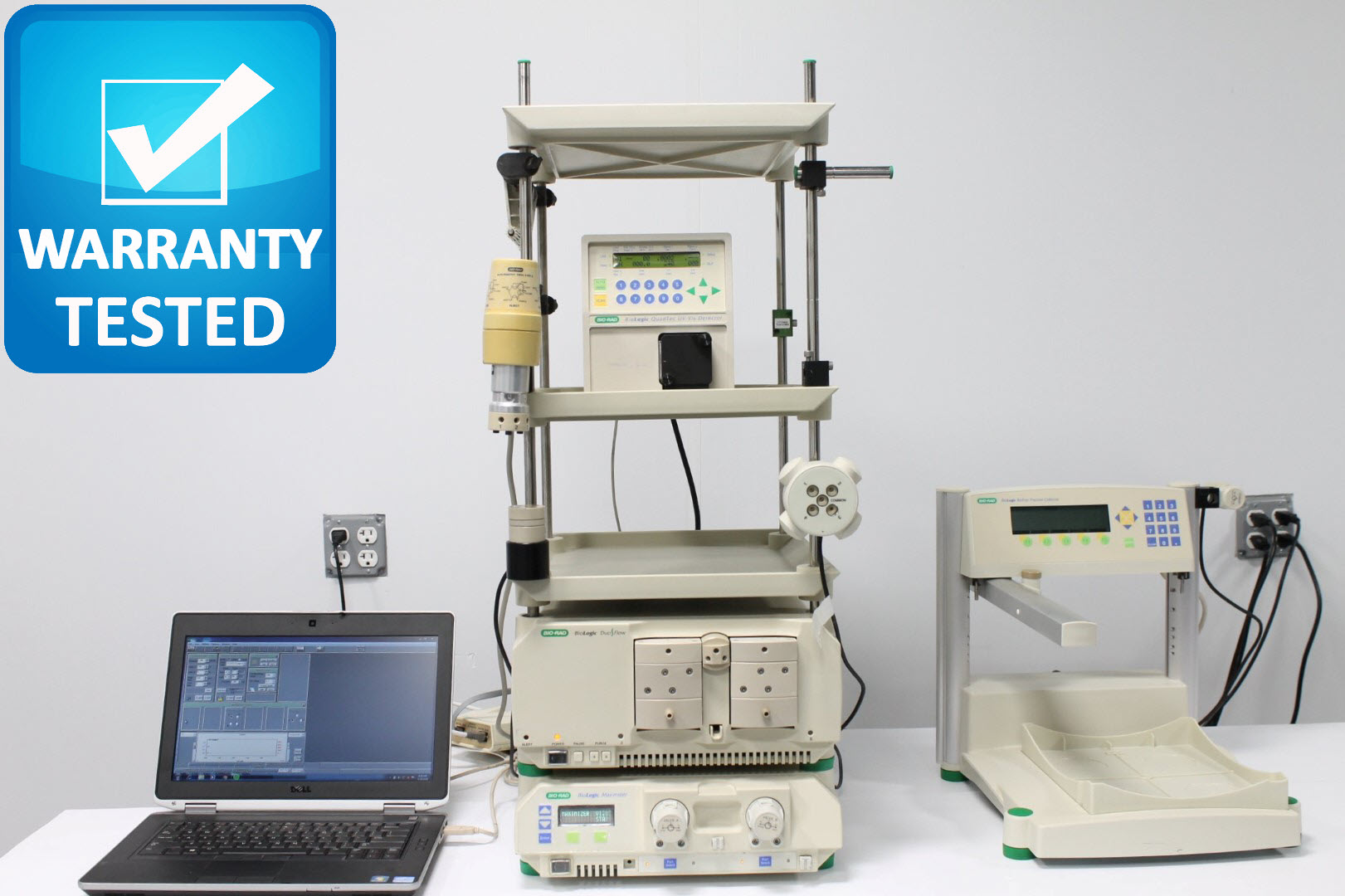 Bio-Rad DuoFlow Chromatography w/ BioLogic QuadTec, Maximizer, BioFrac