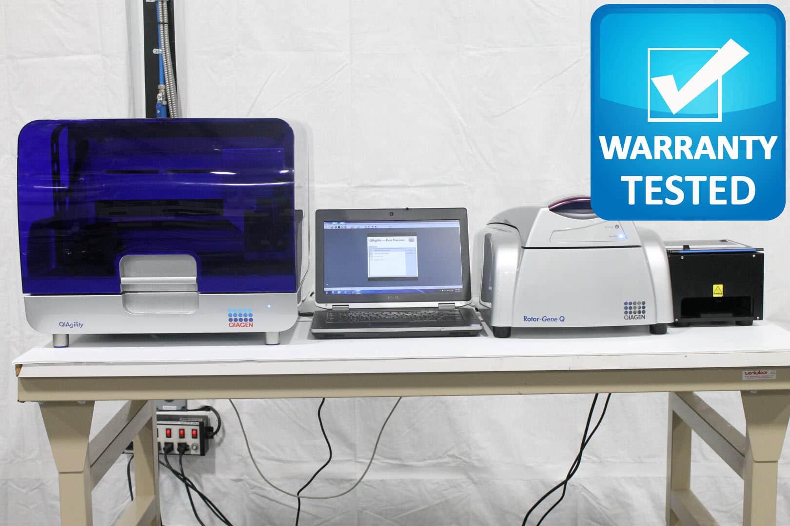Qiagen Rotor-Gene Q PCR Cycler 5 Plex, QIAgility Prep System, Rotor-Disc Sealer