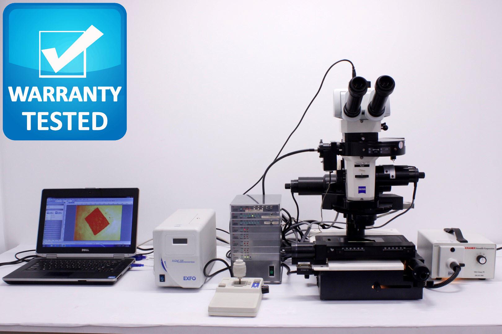Zeiss Stemi SV 11 Apo Stereo Motorized Fluorescence Microscope