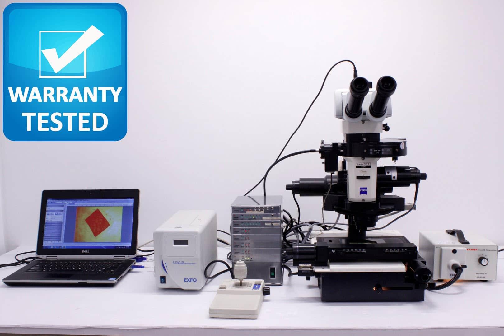 Zeiss Stemi SV 11 Apo Stereo Motorized Fluorescence Microscope Pred Discovery V12/V20