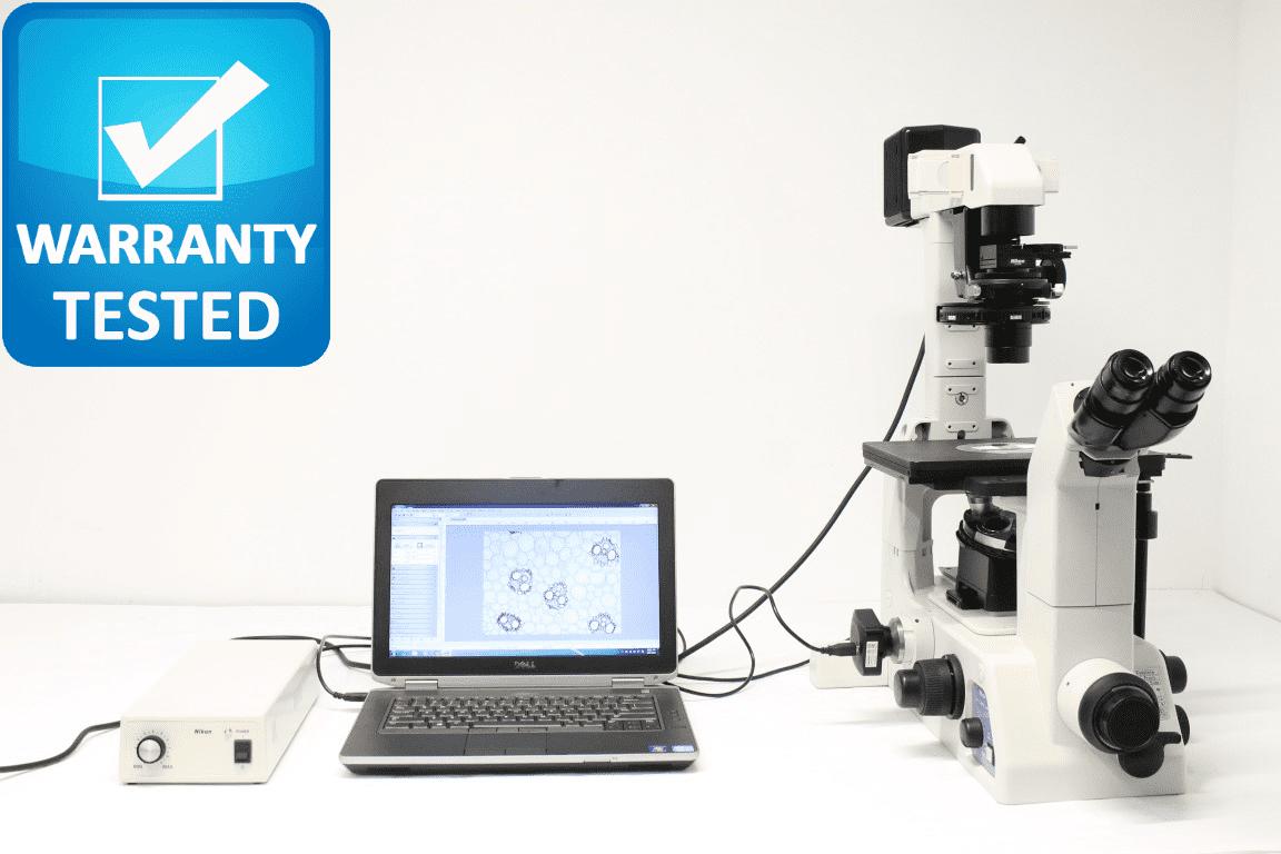 Nikon TE300 Inverted Microscope Brightfield w/ Phase Contrast, DIC, Polarization