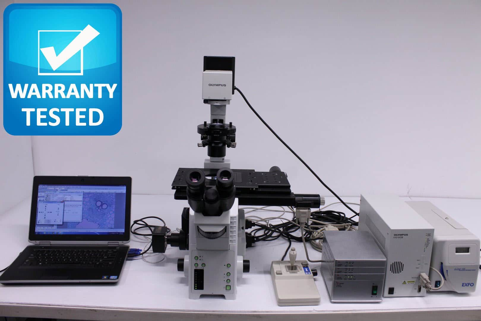 Olympus IX81 Inverted Motorized Fluorescence Microscope
