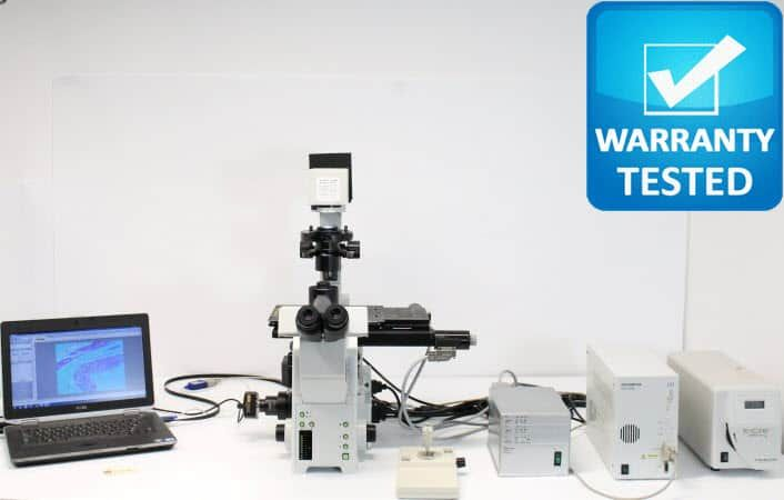 Olympus IX81 Fluorescence Motorized Phase Contrast Microscope Unit8 - AV
