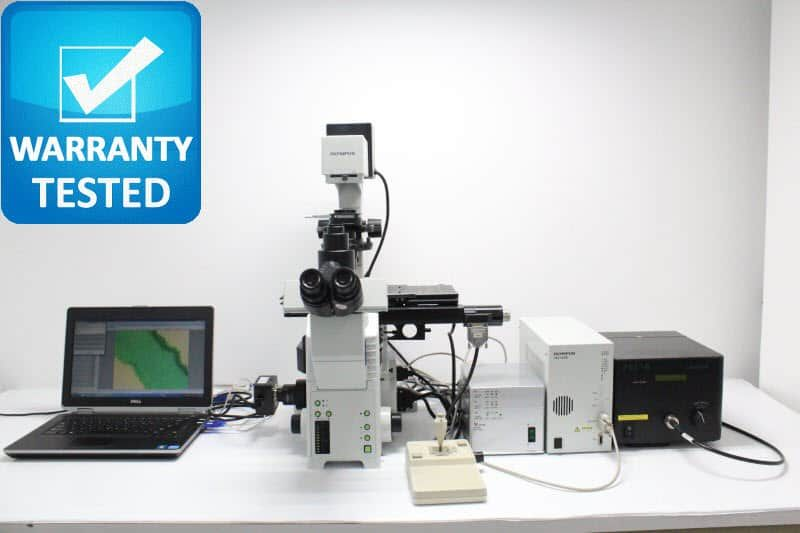 Olympus IX81 Fluorescence Motorized DIC Polarization Phase Contrast Microscope