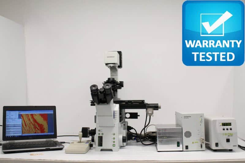 Olympus IX81 Fluorescence Motorized Phase Contrast Microscope