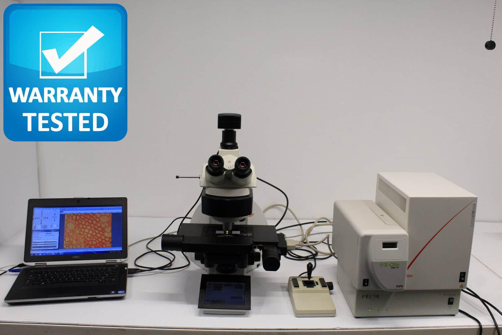 Leica DM6000 B Motorized Fluorescence Phase Contrast Microscope