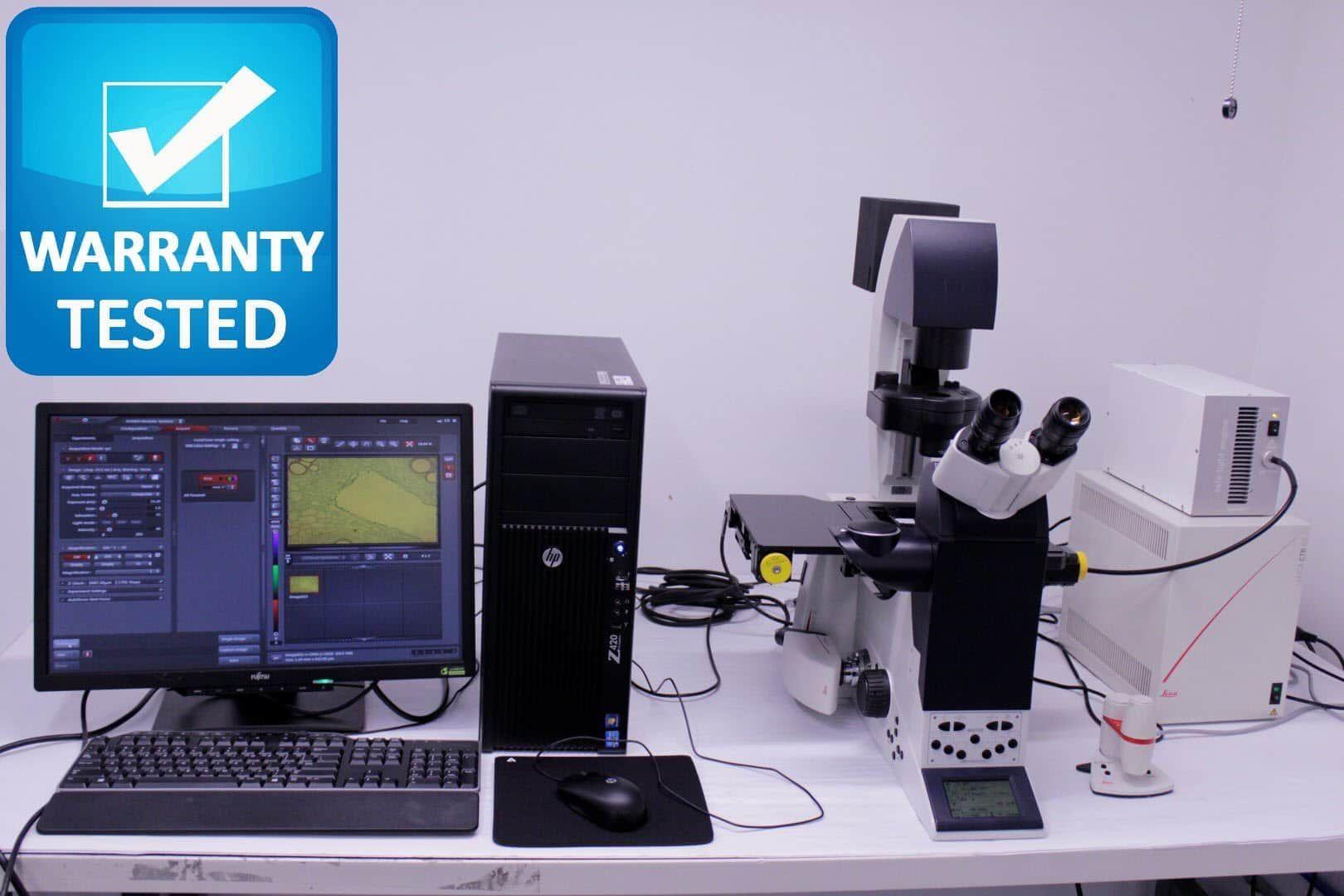 Leica DMI6000 B Inverted Motorized Fluorescence Autofocus Microscope