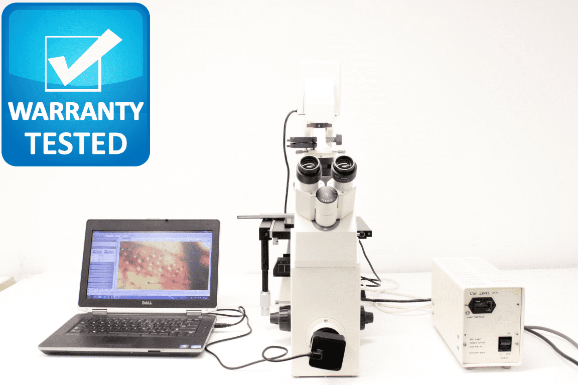 Zeiss Axiovert 135 Inverted Fluorescence Phase Contrast Microscope