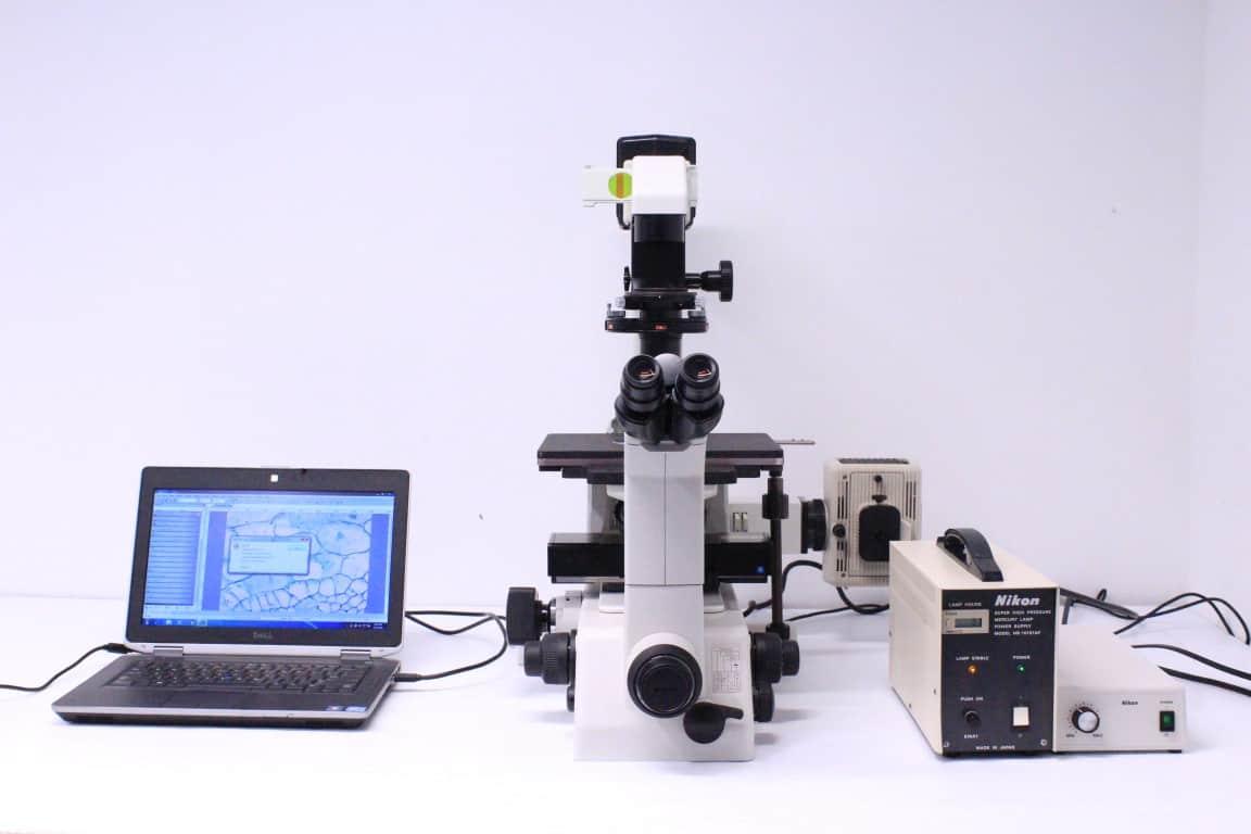 Nikon Eclipse TE300 Inverted Fluorescence Microscope Unit 6