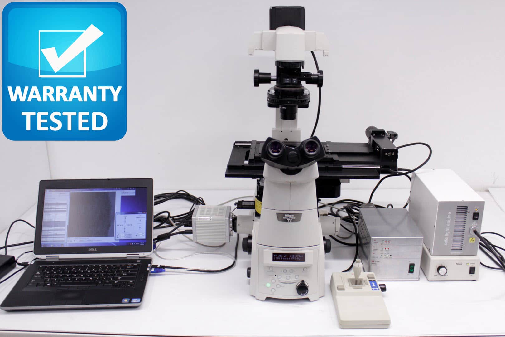 Nikon Ti-E Motorized Fluorescence DIC Microscope with PFS Perfect Autofocus