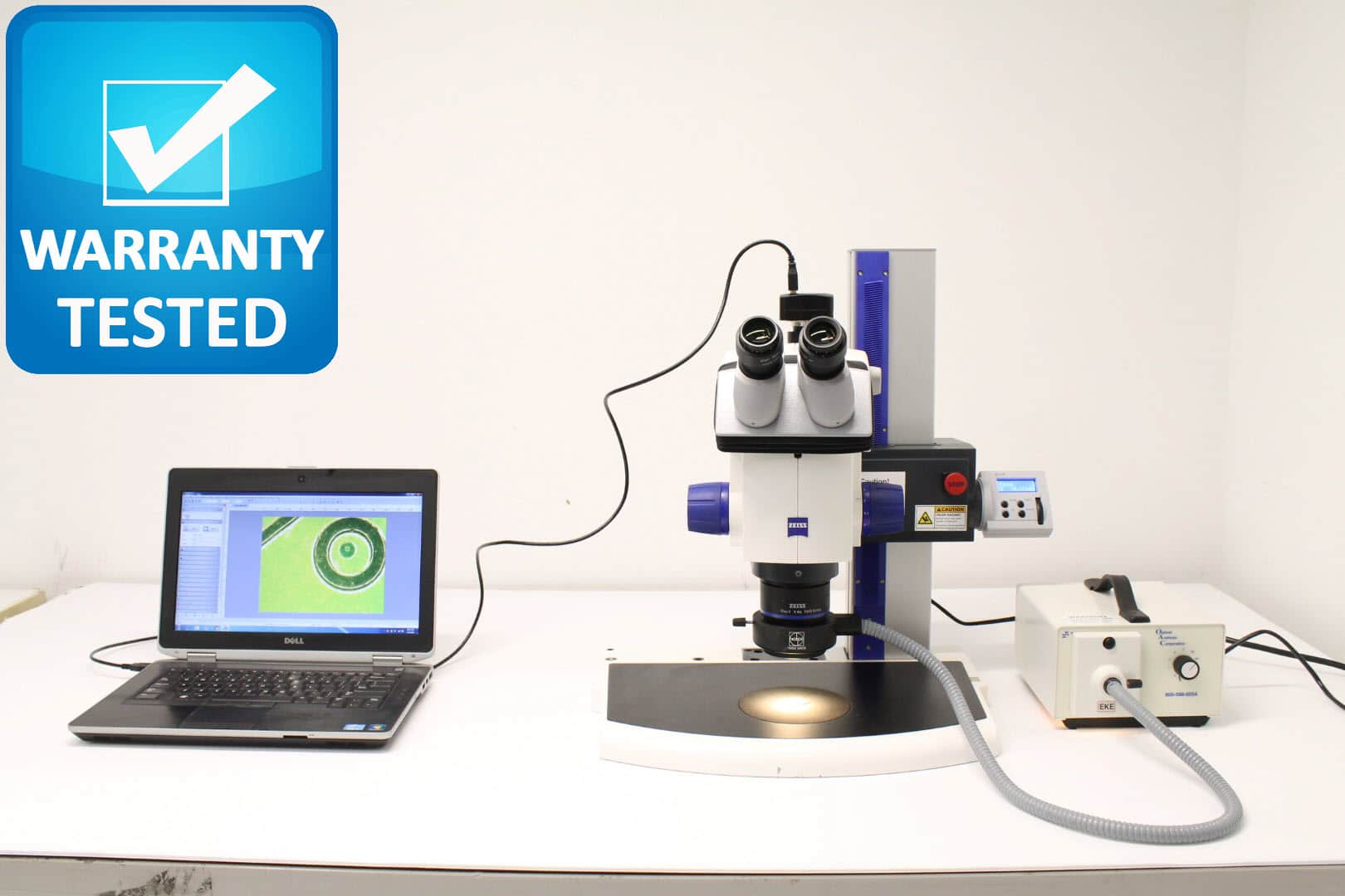Zeiss Discovery.V8 Stereo Microscope Stereoscope has Motorized Z
