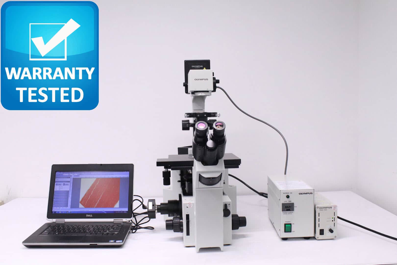 Olympus IX70 Inverted Fluorescence Phase Contrast Microscope