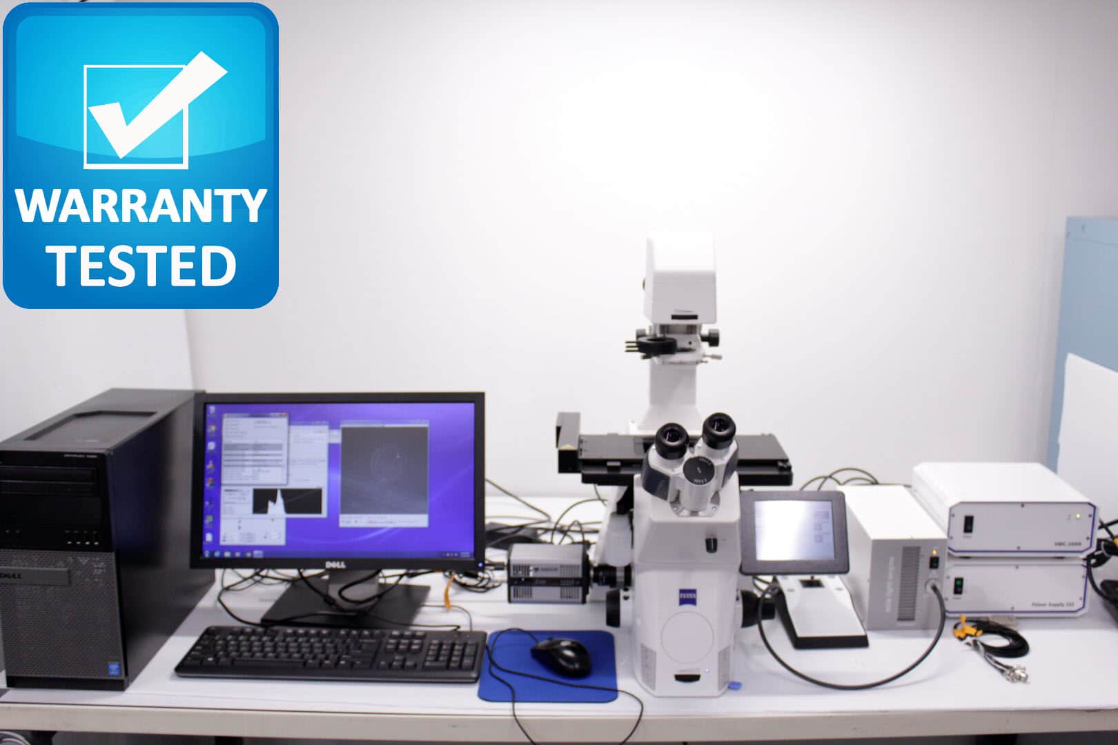Zeiss AXIO Observer.Z7 Inverted Motorized Fluorescence Microscope w/ Andor Xyla Camera (Consignment)