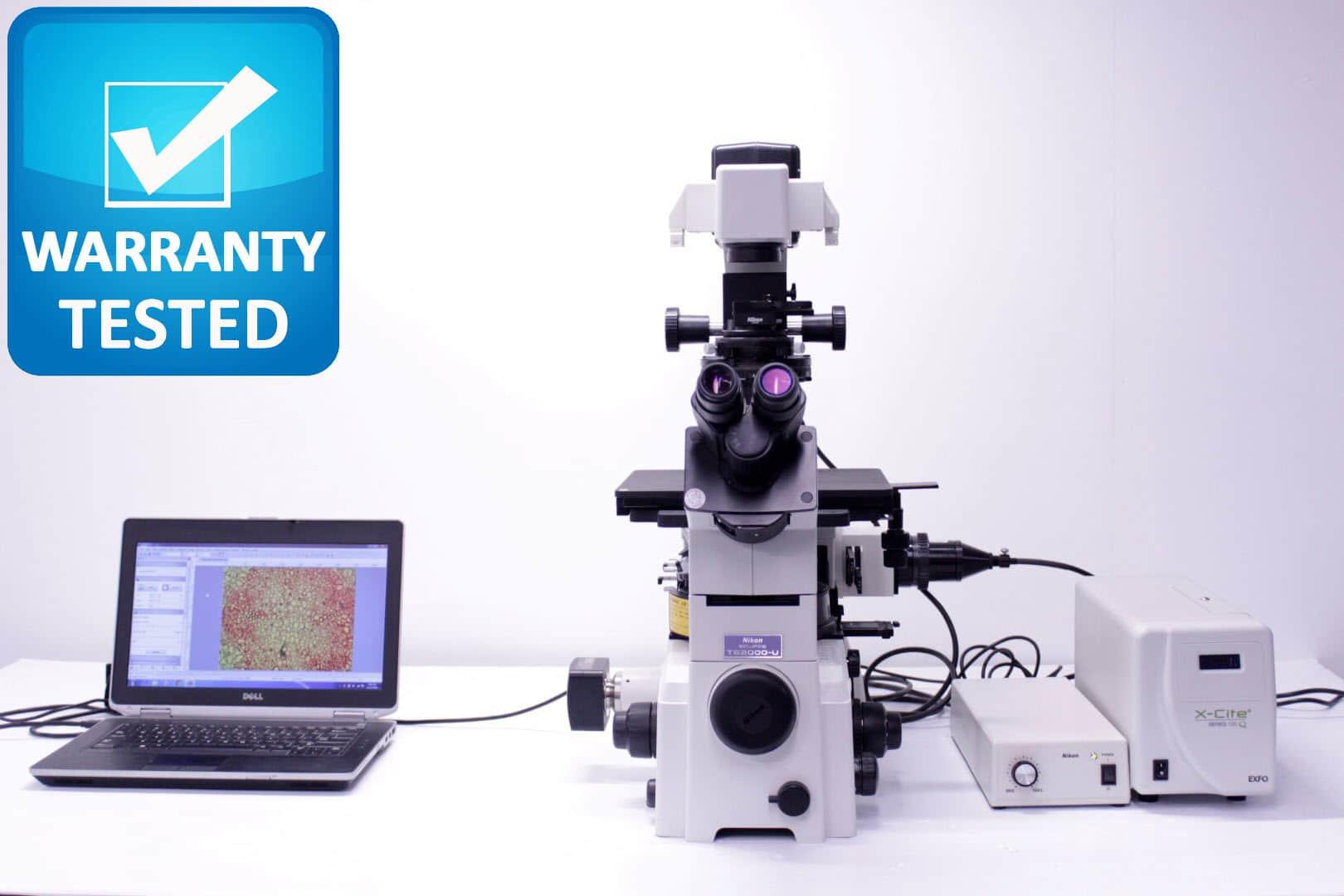 Nikon TE2000-U Inverted Fluorescence DIC PH Microscope
