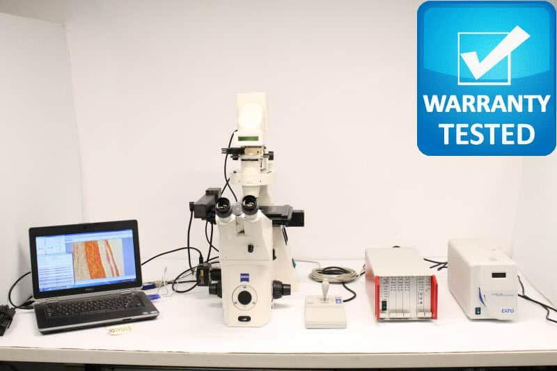 Zeiss Axiovert 200M Inverted Fluorescence Motorized Phase Contrast Microscope Pred AXIO Observer