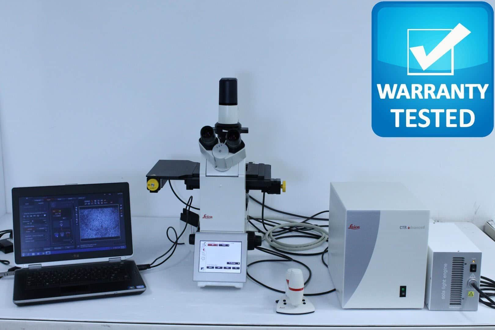 Leica DMi8 Widefield Live Cell TimeLapse Motorized Fluorescence Microscope