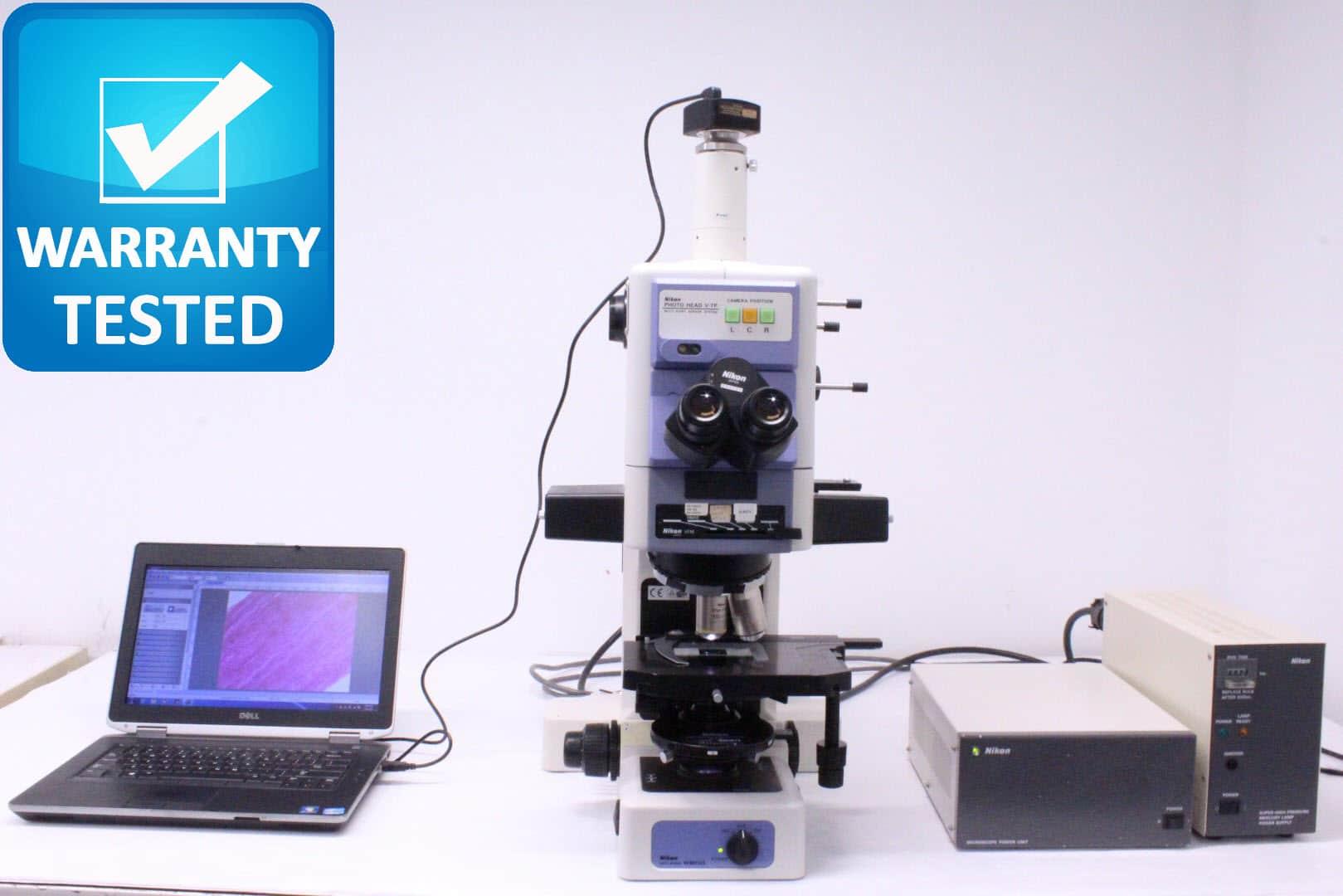 Nikon E800 Microscope Fluorescence DIC