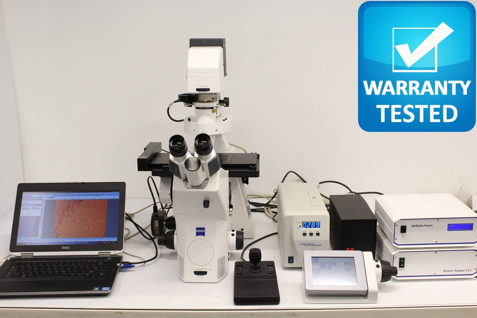 Zeiss Axio Observer.Z1 Fluorescence Motorized Microscope w/ Definite Focus