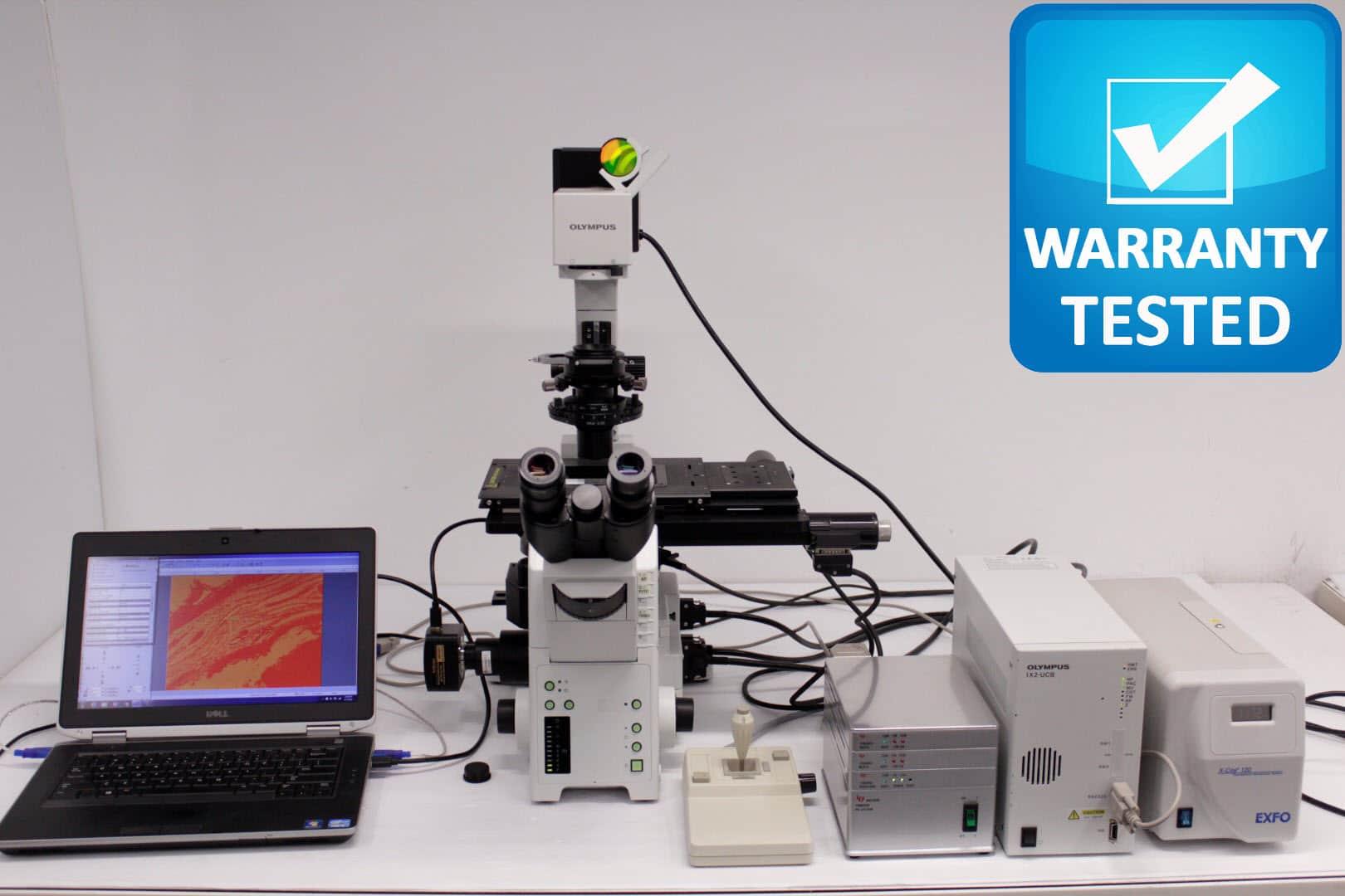 Olympus IX81 Fluorescence Motorized Microscope Polarization DIC