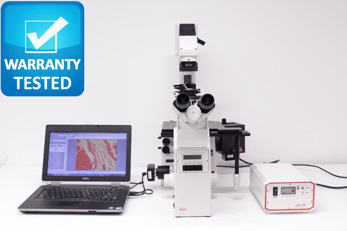 Leica DM IRBE Inverted Fluor Polarizing Microscope