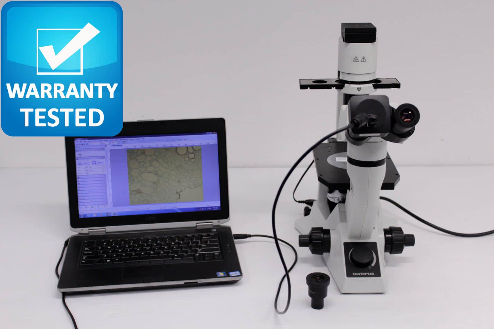 Olympus CKX41 Trinocular Inverted Phase Contrast Microscope CKX41SF