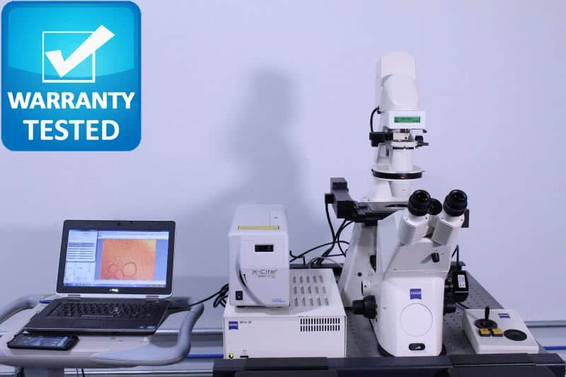 Zeiss Axiovert 200M Fluorescence DIC Motorized Microscope w/Anti-Vibration Table