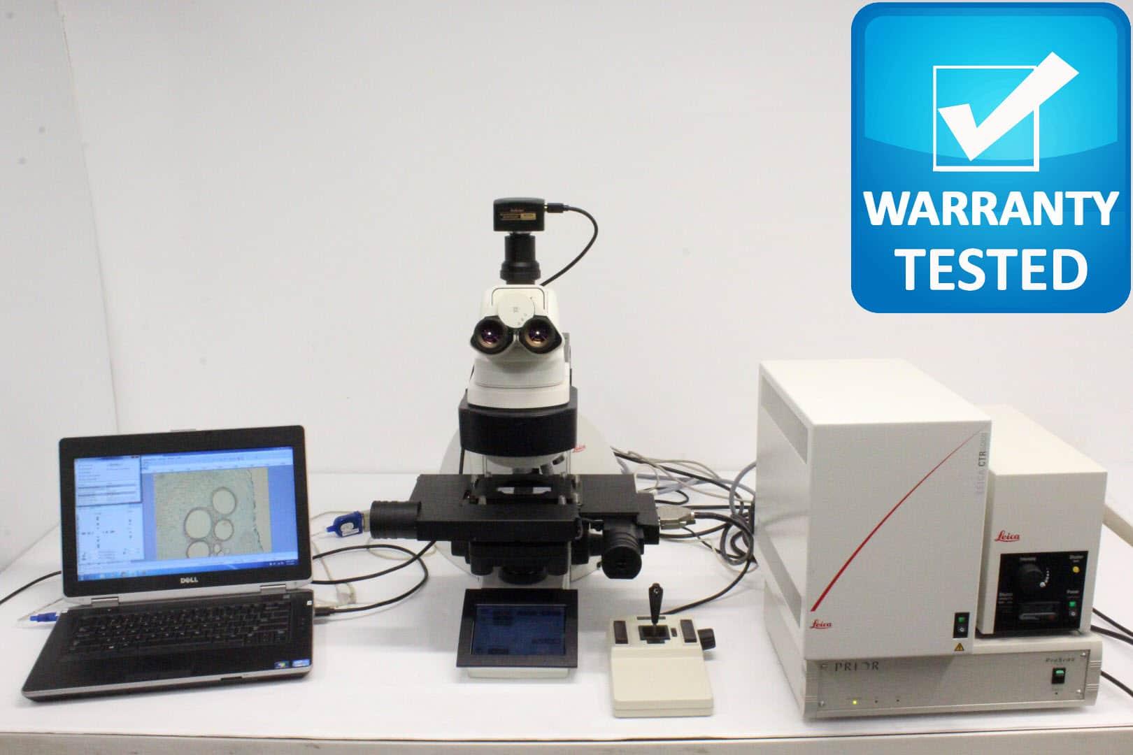 Leica DM6000 B Motorized Fluorescence Phase Contrast Microscope DM6000B