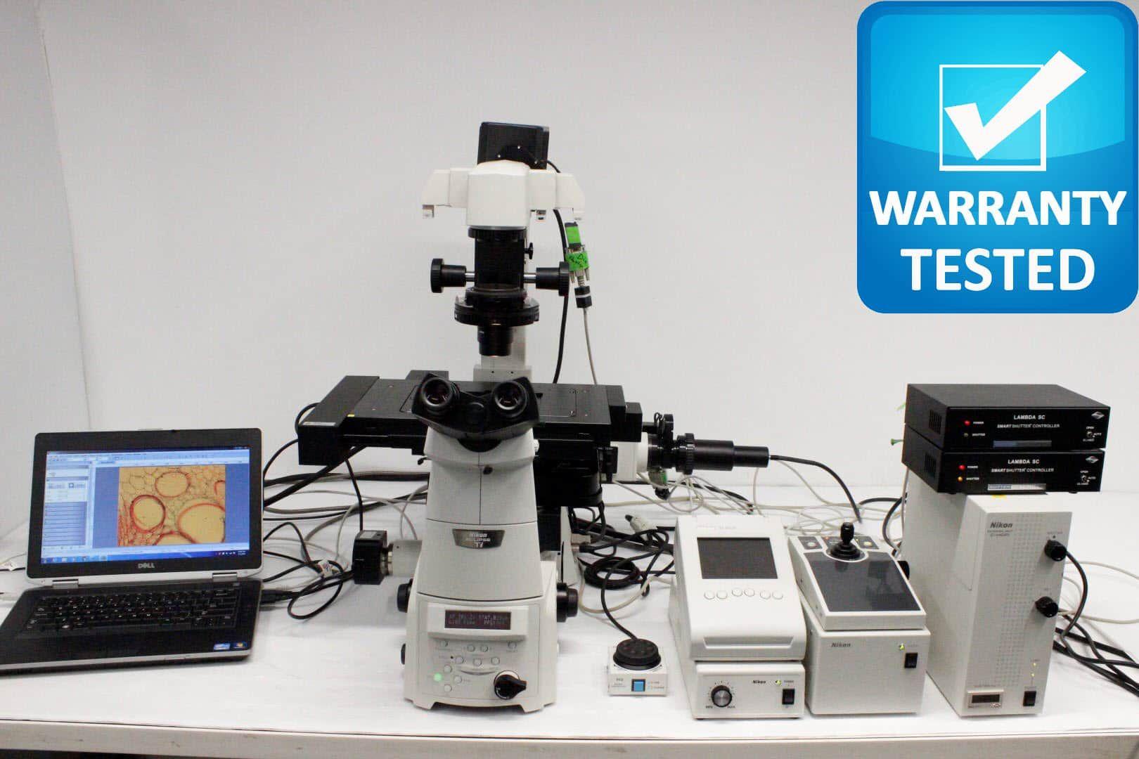 Nikon Ti-E Perfect Focus Inverted Microscope Fluorescence Motorized