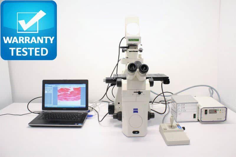Zeiss Axiovert 200M Inverted Microscope Fluorescence Motorized DIC Polarization