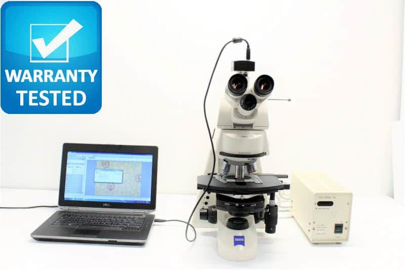 Zeiss Axioskop 2 mot plus Fluorescence Motorized Phase Contrast Microscope